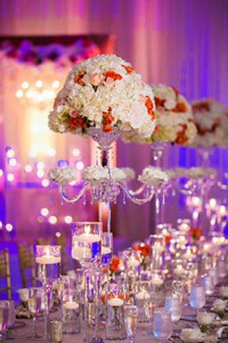 NJ-Newport-Beach-Marriott-Wedding-Flower Centerpiece, Blush Flower Centerpiece, Wedding Reception Decorations